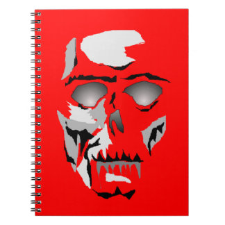 Notebook Skeleton Ghost History Diary Journal Gift