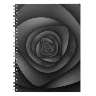 Notebook  Spiral Labyrinth in Monochrome