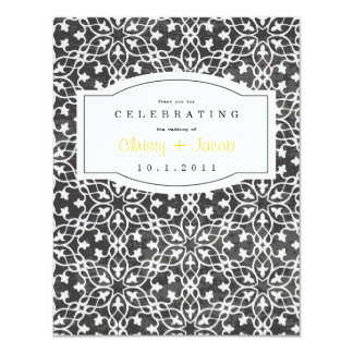 Notebook Thank You Note 4.25x5.5 Paper Invitation Card