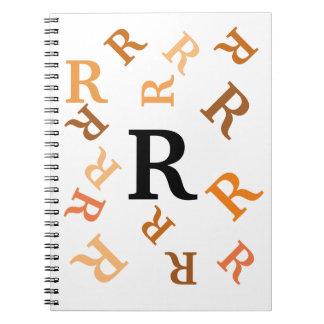 Notebook - Tumbled Orange Letters
