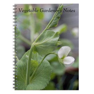 Notebook Vegetable Gardener's Notes