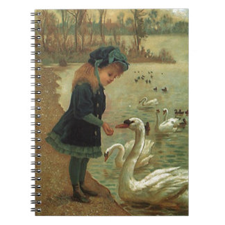 Notebook Victorian Swan Pond Fond of Nature Diary