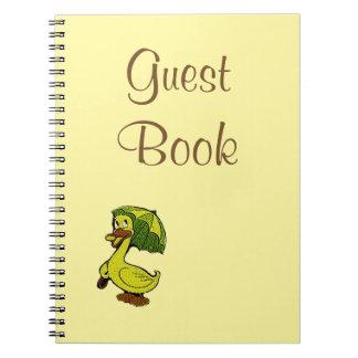 Notebook Vintage Baby Shower Ducky Duck Journal