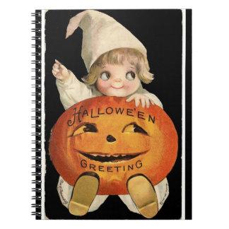 Notebook - Vintage Halloween Greetings illus