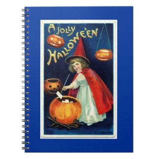 Notebook - Vintage Jolly  Halloween  illus