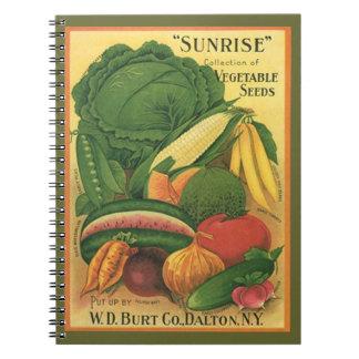 Notebook Vintage Seed Catalog Garden Note Heirloom
