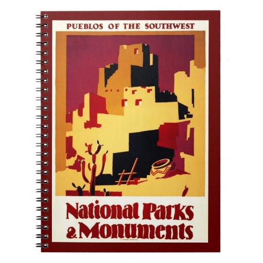 Notebook-Vintage Travel-Pueblos of Southwest