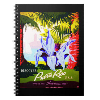 Notebook-Vintage Travel-Puerto Rico 2