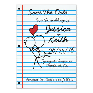 Notebook Wedding Invitation - Save the Date