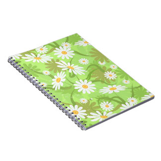 Notebook with chamomile seamless