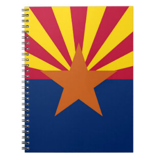 Notebook with Flag of Arizona State