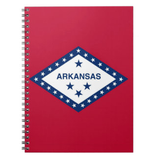 Notebook with Flag of Arkansas State