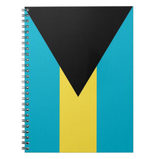 Notebook with Flag of Bahamas