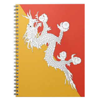 Notebook with Flag of Bhutan