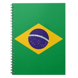 Notebook with Flag of Brazil