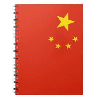 Notebook with Flag of China