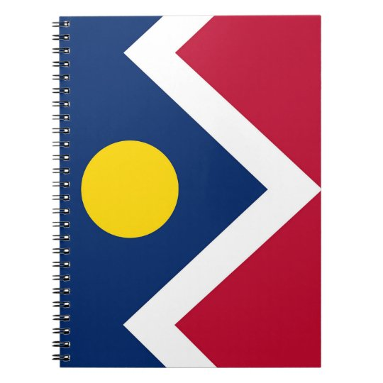Notebook with Flag of Denver City, Colorado State
