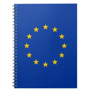 Notebook with Flag of European Union