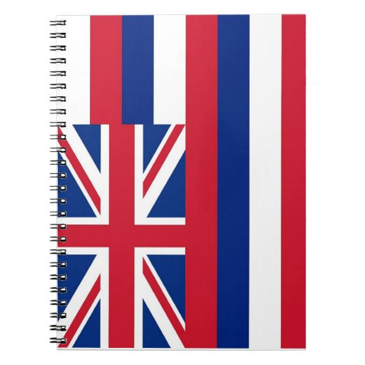 Notebook with Flag of Hawaii State