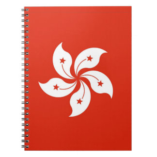 Notebook with Flag of Hong Kong, China