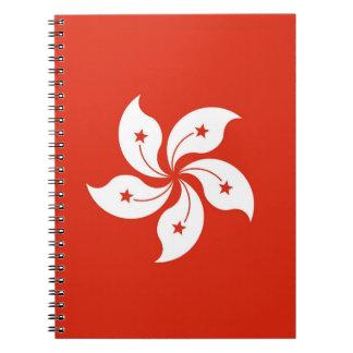 Notebook with Flag of Hong Kong, China