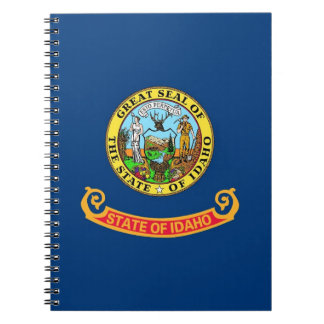 Notebook with Flag of Idaho State