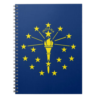 Notebook with Flag of Indiana State