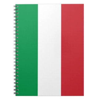 Notebook with Flag of Italy