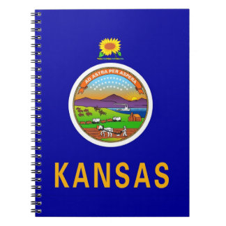 Notebook with Flag of Kansas State