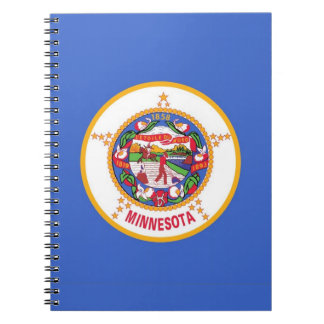Notebook with Flag of Minnesota State