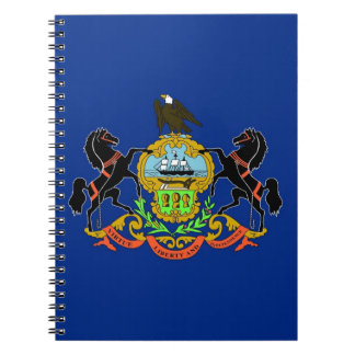 Notebook with Flag of Pennsylvania State