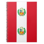 Notebook with Flag of Peru