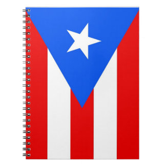 Notebook with Flag of Puerto Rico State
