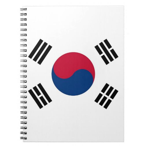 Notebook with Flag of South Korea