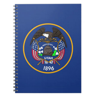 Notebook with Flag of Utah State