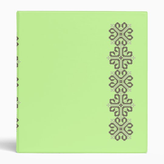 Notebook with Latvian designs 3 Ring Binder