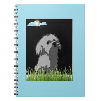 notebook with Maltese Puppy