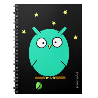 Notebook with night owl/Night Owl Notebook