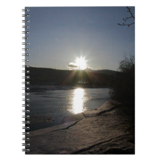 notebook with photo of Yukon River