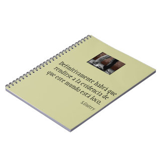 Notebook with phrase of cinema of Sacha Guitry