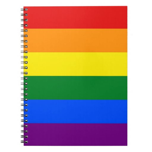 Notebook with Rainbow LGBT Pride Flag