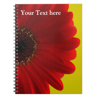 Notebook with red flower