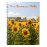 Notebook with sunflowers