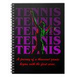 Notebook Women's Tennis 1 Purple Dark or Light