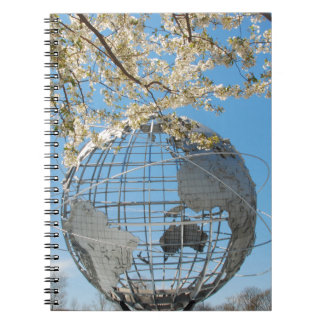 Notebook - Worlds Fair Globe during a Spring Bloom