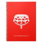 [Crown upside down]  Notebooks