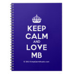 [Crown] keep calm and love mb  Notebooks
