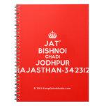 [Crown] jat' bishnoi chadi jodhpur rajasthan-342312  Notebooks