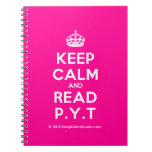 [Crown] keep calm and read p.y.t  Notebooks