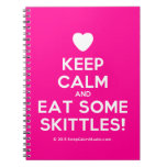 [Love heart] keep calm and eat some skittles!  Notebooks